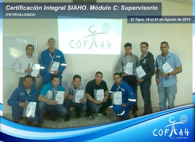 Certificación Integral SIAHO Módulo C Supervisorio (PETROALIANZA) El Tigre