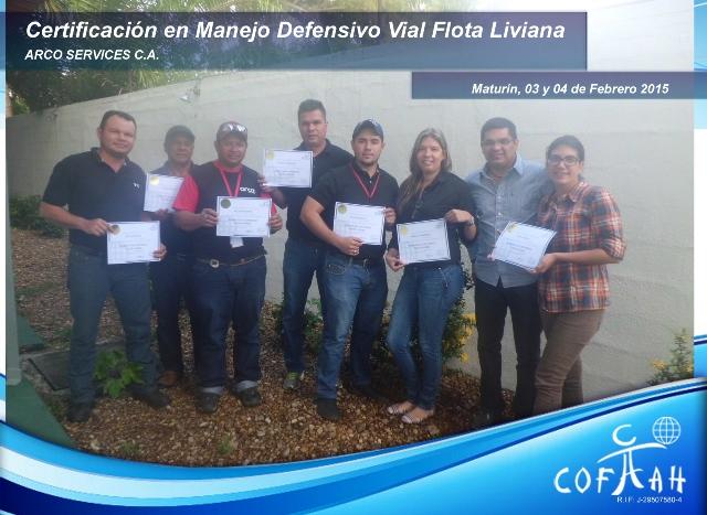 Certificación en Manejo Defensivo Vial - Flota Liviana (ARCO SERVICES) Maturín
