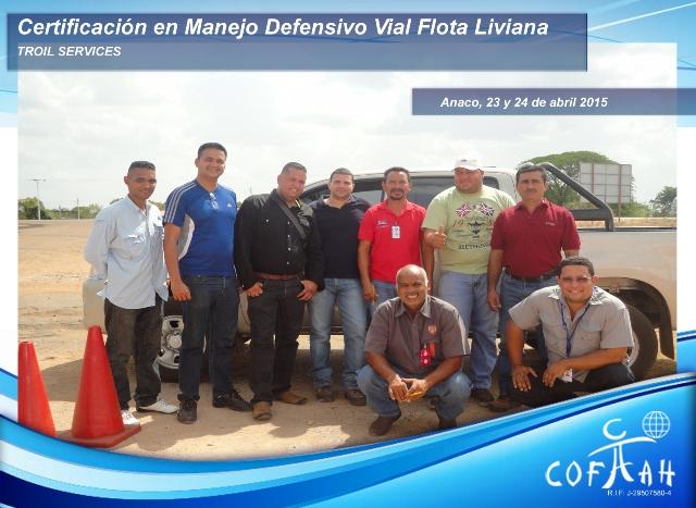 Certificación en Manejo Defensivo Vial - Flota Liviana (TROIL Services) Anaco
