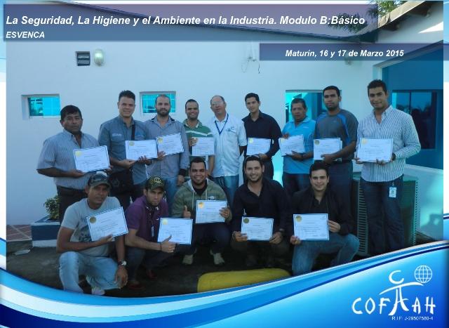 Certificación SIAHO Módulo B - Básico (ESVENCA) Maturín