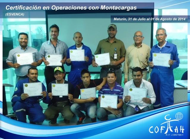 Certificación Operadores con Montacargas (ESVENCA) Maturín