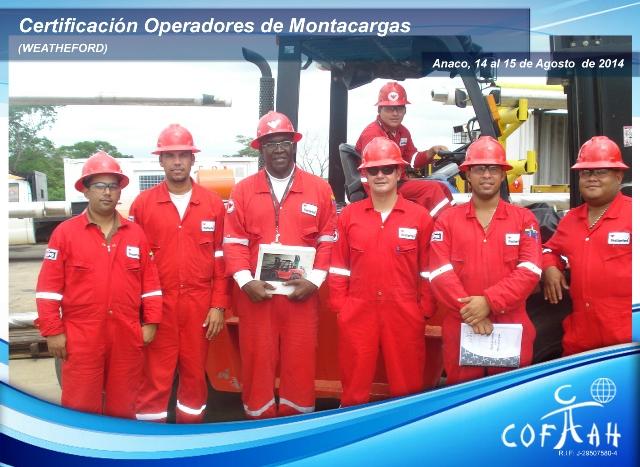 Certificación de Operadores de Montacargas (WEATHERFORD) Anaco