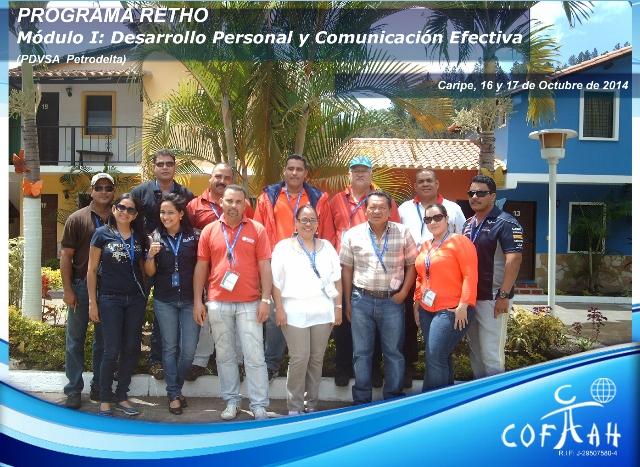 PROGRAMA RETHO - Desarrollo Personal y Comunicación Efectiva  (PDVSA Petrodelta) Caripe