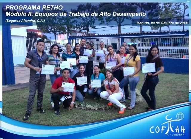 PROGRAMA RETHO - Equipos de Trabajo de Alto Desempeño (SEGUROS ALTAMIRA) Maturín