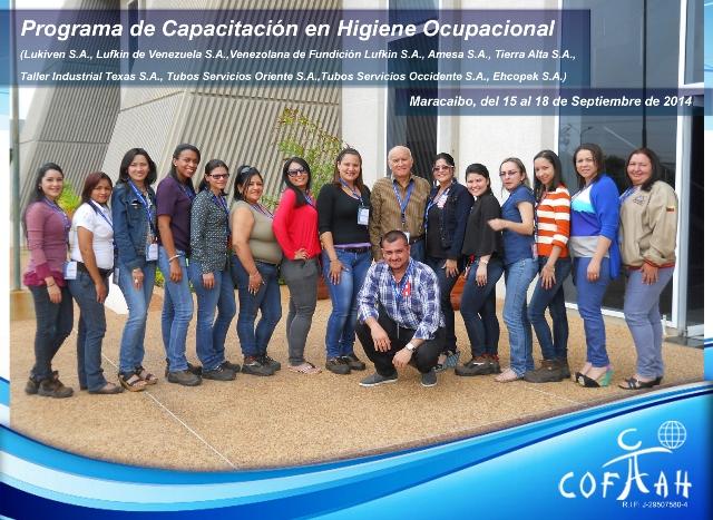 Programa de Capacitación en Higiene Ocupacional (Grupo Empresas LUKIVEN) Maracaibo