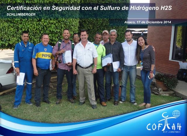 Certificación en Seguridad con el Sulfuro de Hidrógeno (SCHLUMBERGER) Anaco