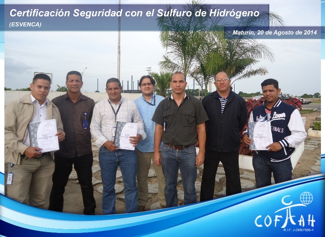 Certificación en Seguridad con el Sulfuro de Hidrógeno (ESVENCA) Maturín