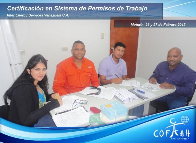 Certificación en Sistema de Permisos de Trabajo (INTER ENERGY SERVICES) Maturín
