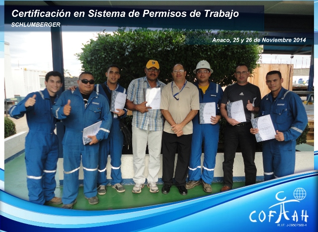 Certificación en Sistema de Permisos de Trabajo (SCHLUMBERGER) Anaco