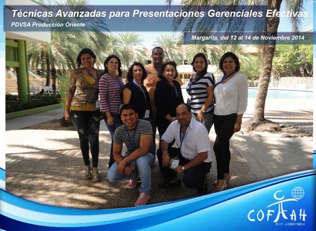 Técnicas Avanzadas para Presentaciones Gerenciales Efectivas (PDVSA) Isla de Margarita