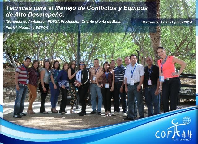 Técnicas para el Manejo de Conflictos y Equipos de Alto Desempeño (PDVSA) Isla de Margarita