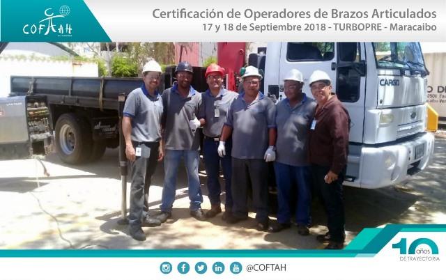 Certificación de Operadores de Brazos Artículados (TURBOPRE) Maracaibo