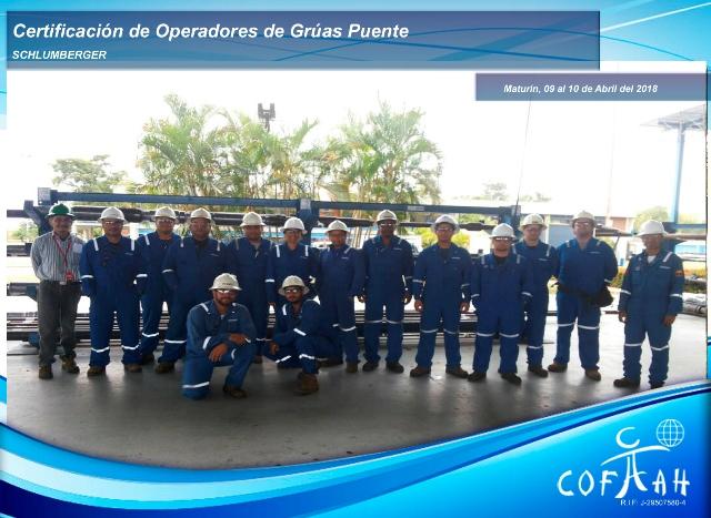 Certificación de Operadores de Grúas Puente (SCHLUMBERGER) Maturín