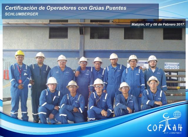 Certificación de Operadores con Grúas Puentes (SCHLUMBERGER) Maturín