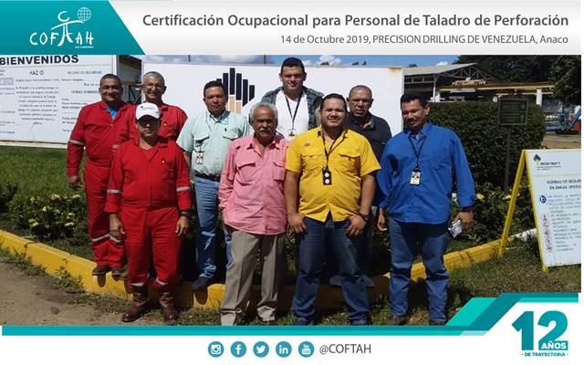 Certificación Ocupacional para Personal de Taladro de Perforación (PRECISION DRILLING) Anaco