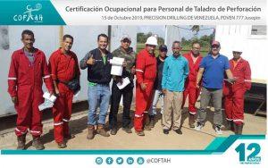 Certificación Ocupacional para Personal de Taladro de Perforación (PRECISION DRILLING) PDVEN-777 Jusepin