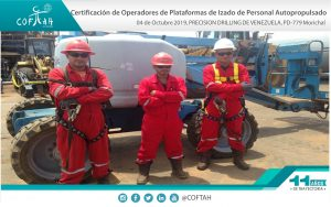 Certificación de Operadores de Plataformas de Izado de Personal Autopropulsados (PRECISION DRILLING) PDVEN-779 Morichal