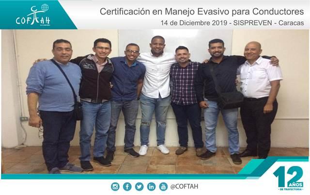 Certificación en Manejo Evasivo para Conductores (SISPREVEN) Caracas