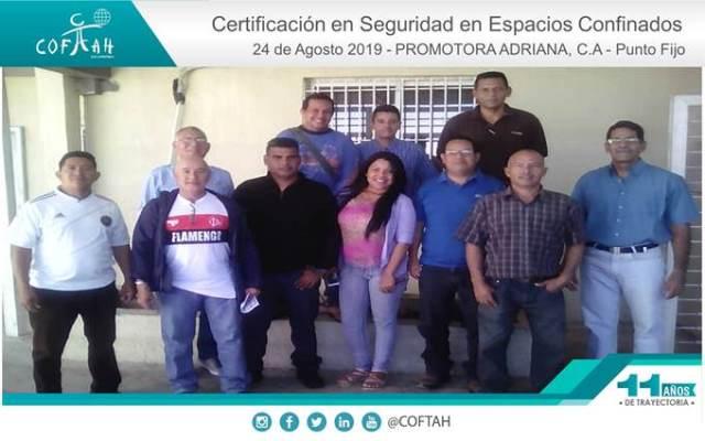 Certificación en Seguridad en Espacios Confinados (PROMADRICA) Punto Fijo