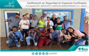 Certificación en Seguridad en Espacios Confinados (RORANCA) Maturín