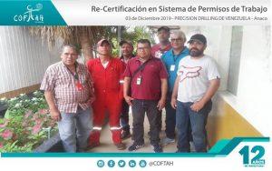 Re-Certificación en Sistema de Permisos de Trabajo (PRECISION DRILLING) Anaco