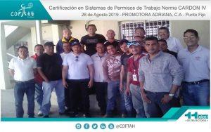 Certificación en Sistema de Permisos de Trabajo (PROMADRICA) Punto Fijo