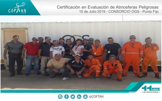 Certificación en Evaluación de Atmósferas Peligrosas (CONSORCIO OGS) Punto Fijo