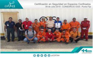 Certificación en Seguridad en Espacios Confinados (CONSORCIO OGS) Punto Fijo