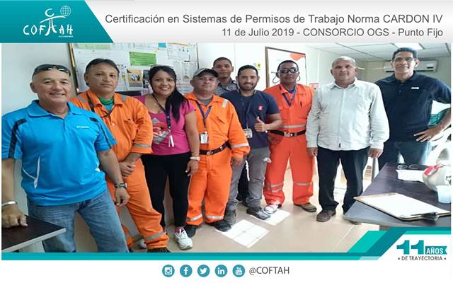 Certificación en Sistema de Permisos de Trabajo (CONSORCIO OGS) Punto Fijo