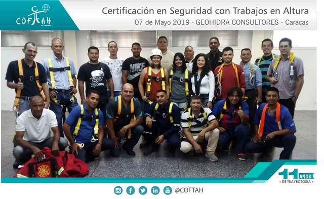 Certificación en Seguridad con Trabajos en Altura (GEOHIDRA CONSULTORES) Caracas