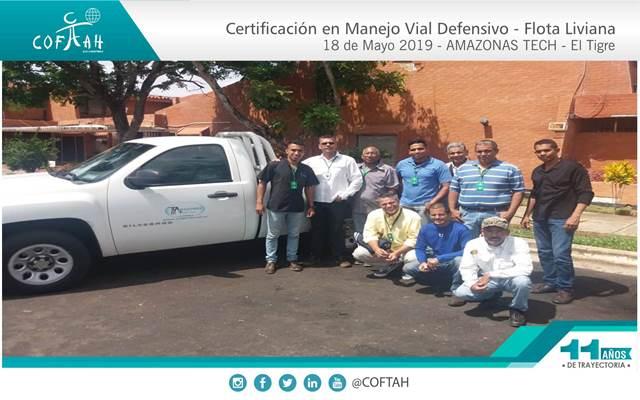 Re-Certificación en Manejo Vial Defensivo - Flota Liviana (AMAZONAS TECH) El Tigre