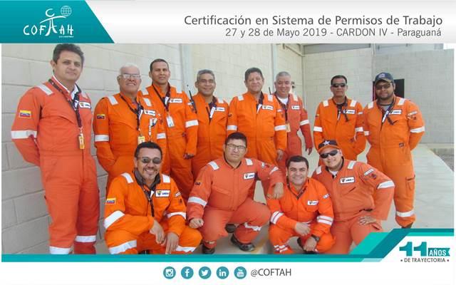 Certificación en Sistema de Permisos de Trabajo (CARDON IV) Paraguaná