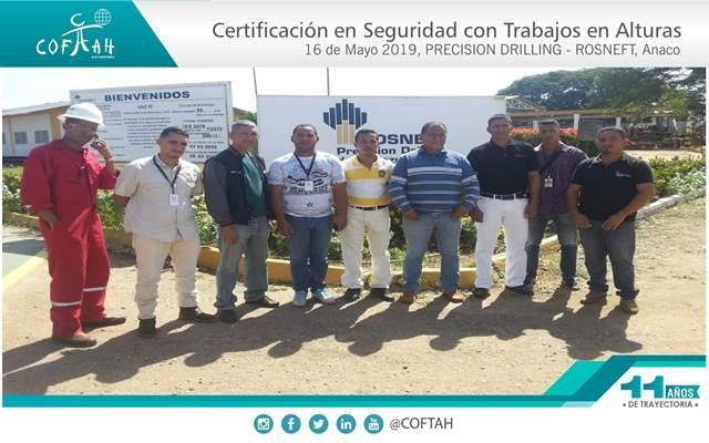 Certificación en Seguridad con Trabajos en Altura (PRECISION DRILLING – ROSNEFT) Anaco