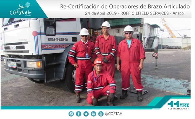 Re-Certificación de Operadores de Brazos Articulados (ROFF OILFIELD SERVICES) Anaco