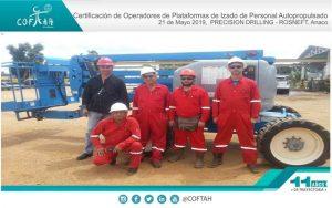 Certificación de Operadores de Plataformas de Izado de Personal Autopropulsados (PRESISION DRILLING - ROSNEFT) Anaco