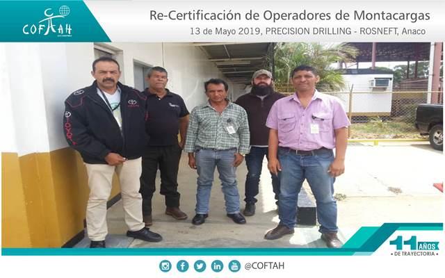 Re-Certificación de Operadores de Montacargas (PRECISION DRILLING – ROSNEFT) Anaco