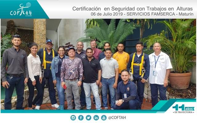 Certificación en Seguridad con Trabajos en Alturas (SERVICIOS FAMSERCA) Maturín