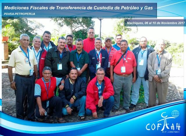 Mediciones Fiscales de Transferencia de Custodia de Petróleo y Gas (PDVSA Petroperija) Machiques