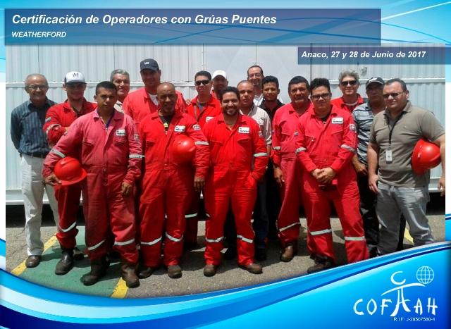 Certificación de Operadores de Grúas Puentes (WEATHERFORD) Anaco