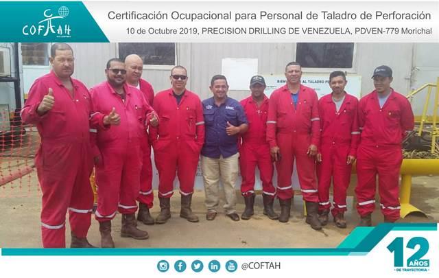 Certificación Ocupacional para Personal de Taladro de Perforación (PRECISION DRILLING) PDVEN-779 Morichal