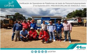 Certificación de Operadores de Plataformas de Izado de Personal Autopropulsados (PRECISION DRILLING) Anaco