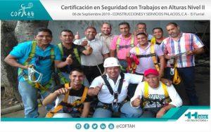 Certificación en Seguridad con Trabajos en Altura (COSPACA) El Furrial