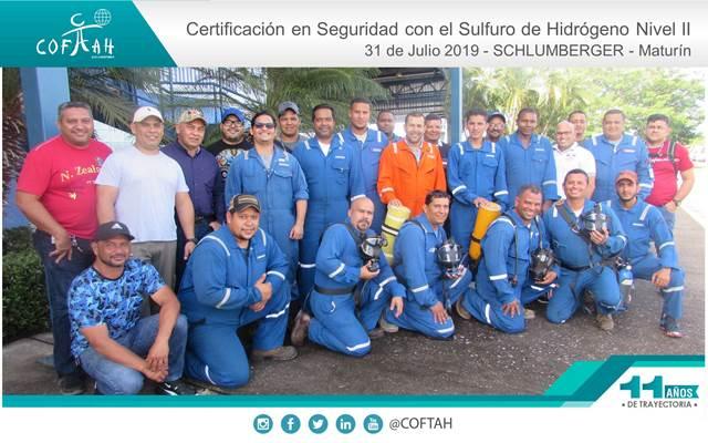 Certificación en Seguridad con el Sulfuro de Hidrogeno (SCHLUMBERGER)  Maturín