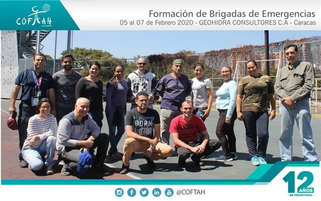 Formación de Brigadas de Emergencias (GEOHIDRA CONSULTORES) Caracas