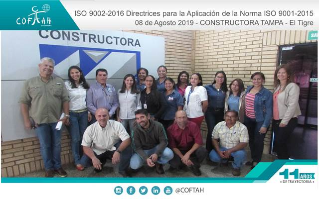ISO 9002-2016 Directrices para la Aplicación de la Norma ISO 9001-2015 (CONSTRUCTORA TAMPA) El Tigre