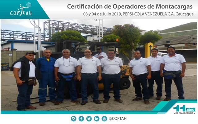 Certificación de Operadores de Montacargas (PEPSI-COLA) Caucagua