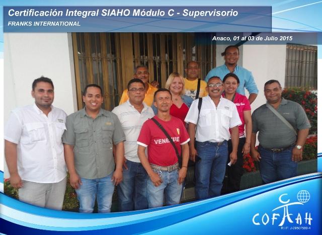 Certificación SIAHO Módulo C - Supervisorio (FRANKS International) Anaco