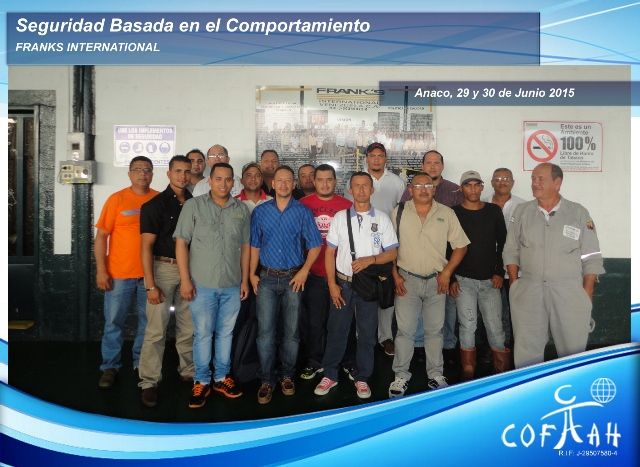 Seguridad Basada en el Comportamiento (FRANKS International) Anaco