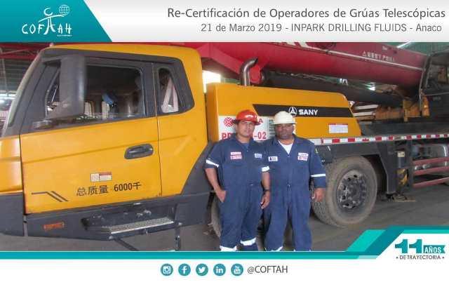 Re-Certificación de Operadores de Grúas Telescópicas (INPARK DRILLING) Anaco