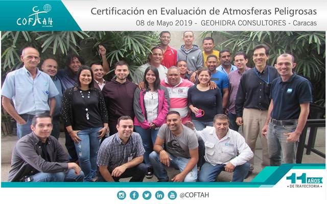 Certificación en Evaluación de Atmosferas Peligrosas (GEOHIDRA CONSULTORES) Caracas